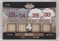 Wade Boggs, Jim Rice, Cal Ripken Jr., Rickey Henderson #/30