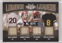 Mike Schmidt, Johnny Bench, Pete Rose, Willie Stargell #/30