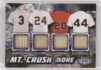 Harmon Killebrew, Willie Mays, Frank Robinson, Willie McCovey #/9