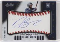 Rookie Baseball Material Signatures - Travis Blankenhorn #/99