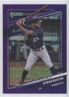 2021 Panini Donruss - [Base] - Holo Purple #136 - Byron Buxton