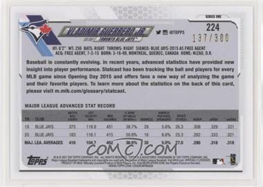 2021 Topps - [Base] - Advanced Stats #224 - Vladimir Guerrero Jr. /300 - Courtesy of COMC.com
