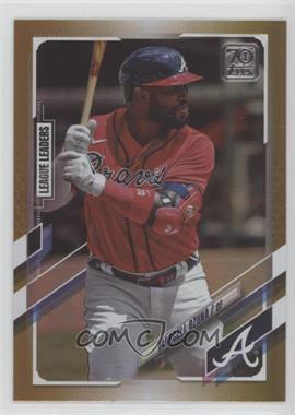 2021 Topps - [Base] - Gold Foil #220 - League Leaders - Marcell Ozuna