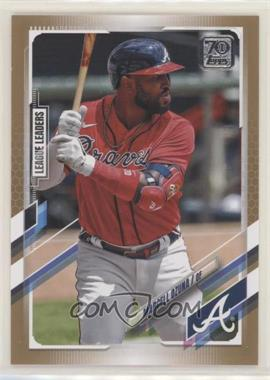 2021 Topps - [Base] - Gold #220 - League Leaders - Marcell Ozuna /2021