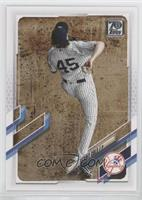 SP Variation - Gerrit Cole (Pinstriped Jersey, Aerial View)