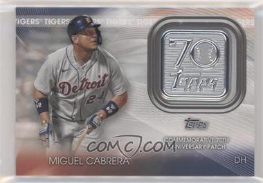 2021 Topps - Topps 70th Anniversary Manufactured Logo Patches #70LP-MC - Miguel Cabrera