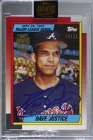 David Justice (1990 Topps Major League Debut) [BuyBack] #/21