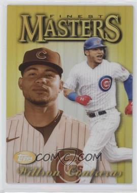 2021 Topps Finest - 1997 Topps Finest Masters - Gold Refractor #97FM-WC - Willson Contreras /50 - Courtesy of COMC.com