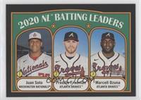 League Leaders - Juan Soto, Marcell Ozuna, Freddie Freeman #/50