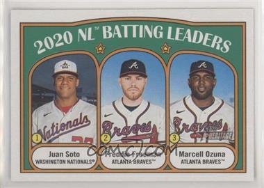 2021 Topps Heritage - [Base] #85.1 - League Leaders - Juan Soto, Marcell Ozuna, Freddie Freeman