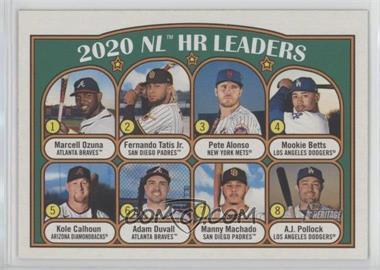 2021 Topps Heritage - [Base] #89.1 - League Leaders - Adam Duvall, Manny Machado, A.J. Pollock, Kole Calhoun, Mookie Betts, Fernando Tatis Jr., Pete Alonso, Marcell Ozuna