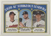 League Leaders - Shane Bieber, Gerrit Cole, Lucas Giolito