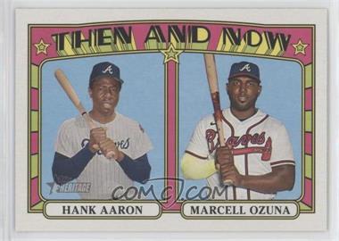 2021 Topps Heritage - Then & Now #TN-8 - Hank Aaron, Marcell Ozuna