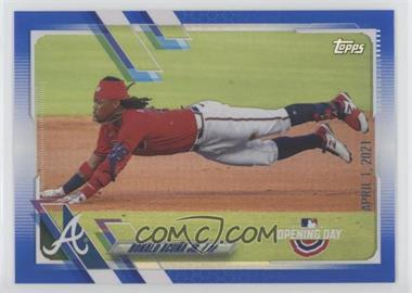 2021 Topps Opening Day - [Base] - Opening Day Edition Blue Foil #150 - Ronald Acuna Jr. - Courtesy of COMC.com