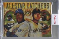 Salvador Perez, Buster Posey (Andrew Thiele) [Uncirculated] #/1,476