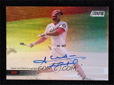 2021 Topps Stadium Club - Autographs - Rainbow Foil #SCBA-JS - Juan Soto /10 - Courtesy of COMC.com