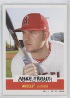1961 Topps Bazooka Panels Design - Mike Trout #/4,710