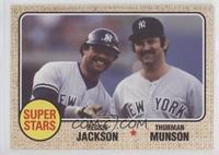 1968 Topps Baseball Design - Reggie Jackson, Thurman Munson #/944