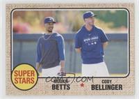 1968 Topps Baseball Design - Mookie Betts, Cody Bellinger #/1,060