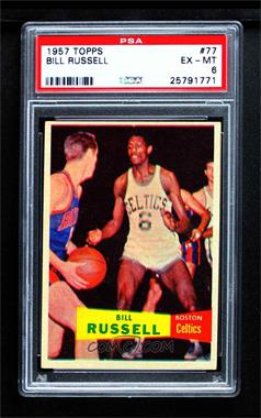 1957-58 Topps - [Base] #77 - Bill Russell [PSA 6 EX‑MT]