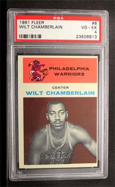 1961-62 Fleer - [Base] #8 - Wilt Chamberlain [PSA4VG‑EX]