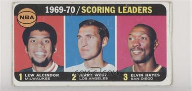 1970-71 Topps - [Base] #1 - Kareem Abdul-Jabbar, Jerry West, Elvin Hayes [Good to VG‑EX]