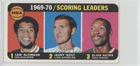 Kareem Abdul-Jabbar, Jerry West, Elvin Hayes [Good to VG‑EX]