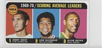 Jerry West, Kareem Abdul-Jabbar, Elvin Hayes [Good to VG‑EX]