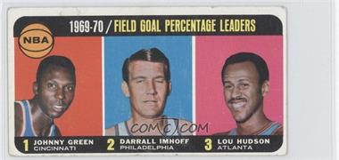 1970-71 Topps - [Base] #3 - Johnny Green, Darrall Imhoff, Lou Hudson [Poor to Fair]