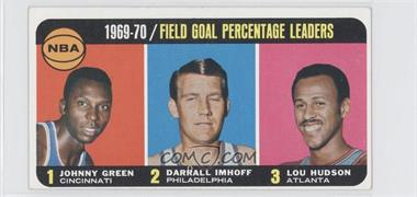 1970-71 Topps - [Base] #3 - Johnny Green, Darrall Imhoff, Lou Hudson [Good to VG‑EX]