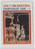 1970-71 NBA Championship Game #1 [Poor]