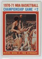 1970-71 NBA Basketball Championship Game # 2 Bucks Make It Two Straight