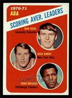 ABA Scoring Aver. Leaders (Dan Issel, Rick Barry, John Brisker) [EXMT]