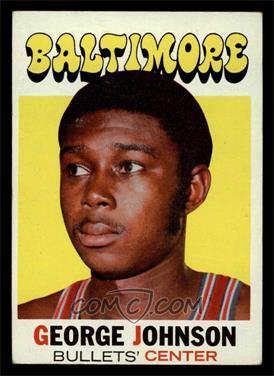1971-72 Topps - [Base] #21 - George Johnson [VG]