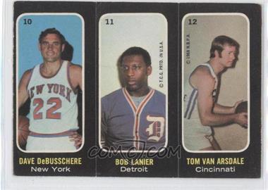 1971-72 Topps - Trios Stickers #10-11-12 - Dave DeBusschere, Bob Lanier, Tom Van Arsdale