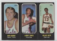 Rick Barry, Larry Jones, Julius Keye [GoodtoVG‑EX]