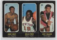 Jerry West, Willis Reed, Chet Walker [Good to VG‑EX]