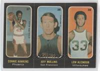Connie Hawkins, Jeff Mullins, Lew Alcindor [Good to VG‑EX]