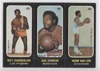 Wilt Chamberlain, Gus Johnson, Norm Van Lier [Good to VG‑EX]