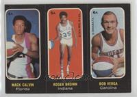 Mack Calvin, Roger Brown, Bob Verga