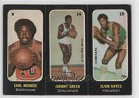 Earl Monroe, Johnny Green, Elvin Hayes [Good to VG‑EX]