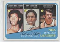 1971-72 NBA Scoring Avg. Leaders (Kareem Abdul-Jabbar, Nate Archibald, John Hav…