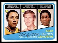 Lenny Wilkens, Jerry West, Nate Archibald [EX]