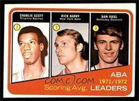 1971-72 ABA Scoring Avg. Leaders (Charlie Scott, Rick Barry, Dan Issel) [VG&nbs…