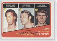 1971-72 ABA Scoring Avg. Leaders (Charlie Scott, Rick Barry, Dan Issel) [Good&n…