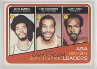 Artis Gilmore, Larry Jones, Tom Washington