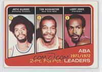 Artis Gilmore, Larry Jones, Tom Washington