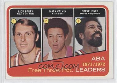 1972-73 Topps - [Base] #262 - Rick Barry, Mack Calvin, Steve Jones
