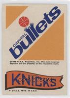 Capital Bullets, New York Knicks