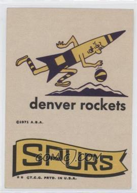 1973-74 Topps - Team Stickers #DERO - Denver Rockets, San Antonio Spurs